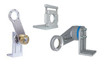Spring-loaded arms and linear equilization shaft encoder holder