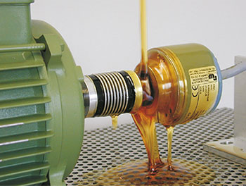 Encoder in oil during long-term testing